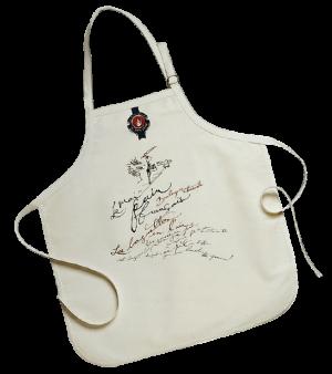 Custom white aprons made by Tex-Fab