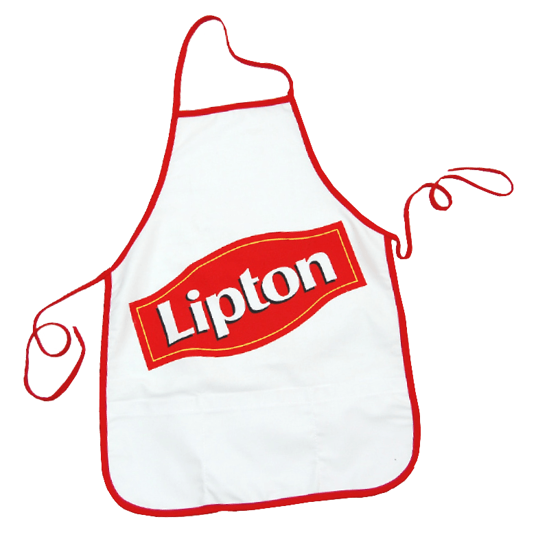 Custom aprons Lipton made by Tex-Fab