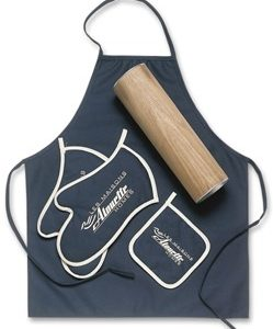 Custom Black Apron kit with mitts