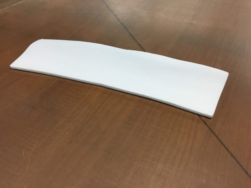 Laminated foam 3/16 white