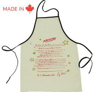 Tablier de cuisine sur mesure - Manufacturier Tex-Fab - 44-9255