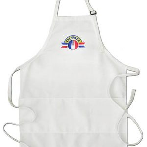Kitchen Apron  white- 3 pockes  and neck adjustment - Manufacturer Tex-fab - 44-9255