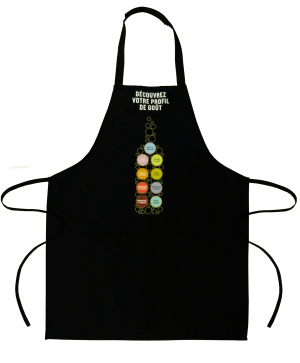 1 Pocket Kitchen Apron black- Tex-Fab manufacturer - 44-9255